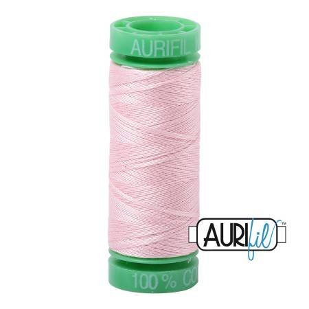 Aurifil Mako Cotton Thread 40wt 164yds Pale Pink