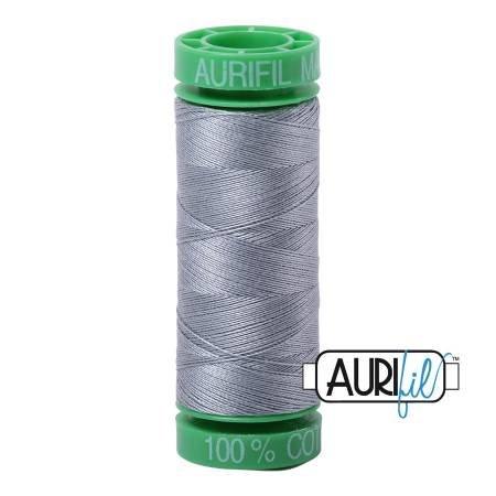 Aurifil Mako Cotton Thread 40wt 164yds Light Blue Grey