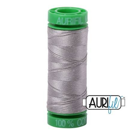 Aurifil Mako Cotton Thread Solid 40wt 164yds Stainless Steel