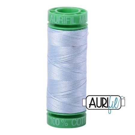 Aurifil Mako Cotton Thread 40wt 164yds Light Robins Egg