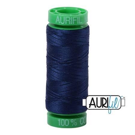 Aurifil Mako Cotton Thread 40wt 164yds Dark Navy