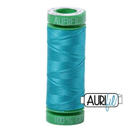 Aurifil Mako Cotton Thread 40wt 164yds Turquoise