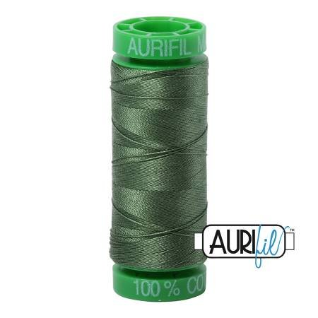 Aurifil Mako Cotton Thread 40wt 164yds Very Dark Grass Green