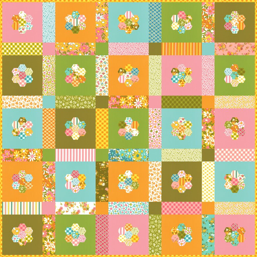 Blooming Flower Boxes Pattern Free Download