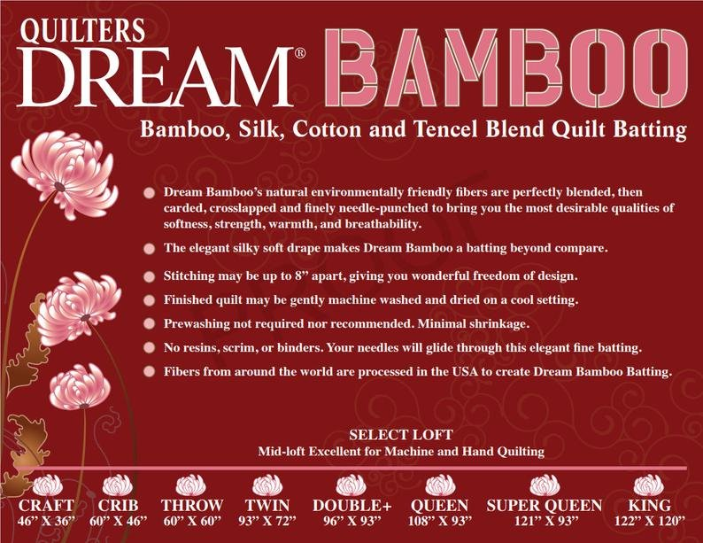 Quilters Dream Bamboo Throw Size 60in x 60in