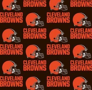 NFL Cleveland Browns Cotton 60in wide