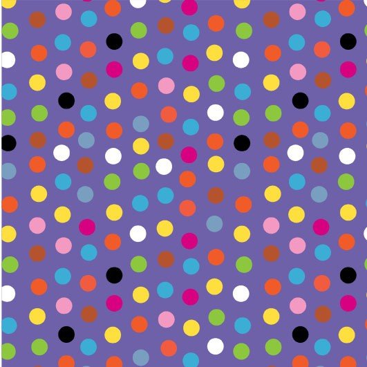 Purple Silly Dot Fat Quarter