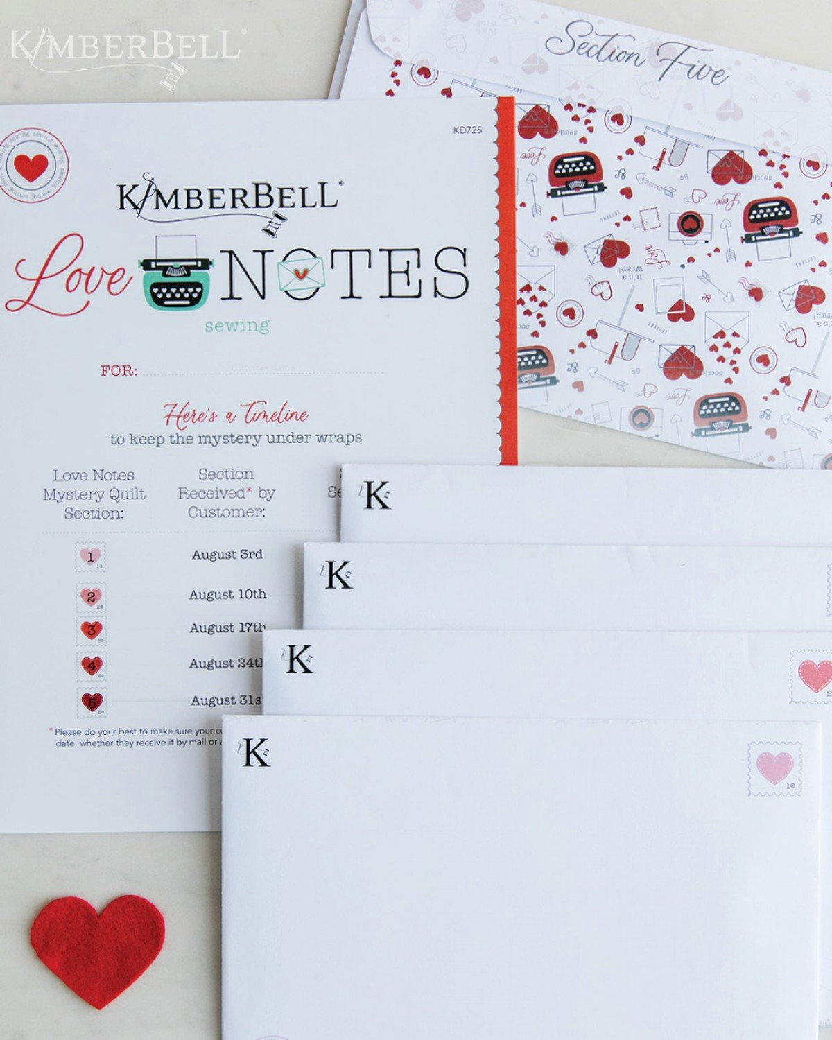 Kimberbell Love Notes Mystery Quilt