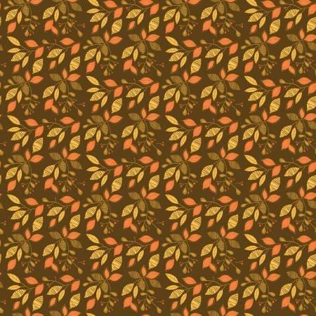 Adel in Autumn Leaves Chocolate Fat Quarter