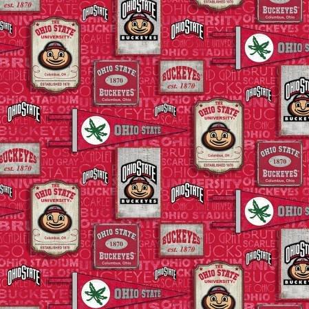 Ohio State Buckeyes Vintage Pennant Cotton