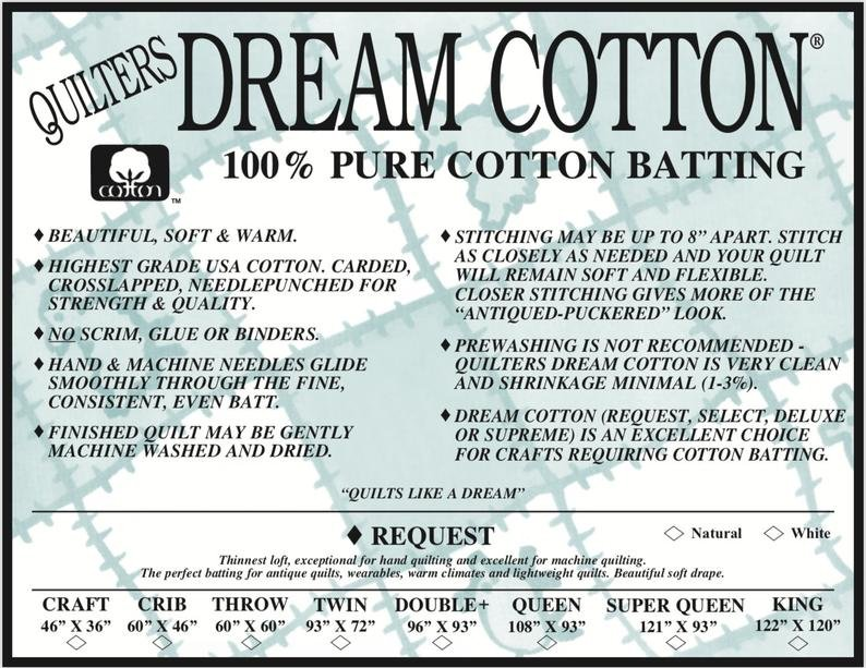 Quilters Dream Cotton Request White Superqueen Size 93in x 121in