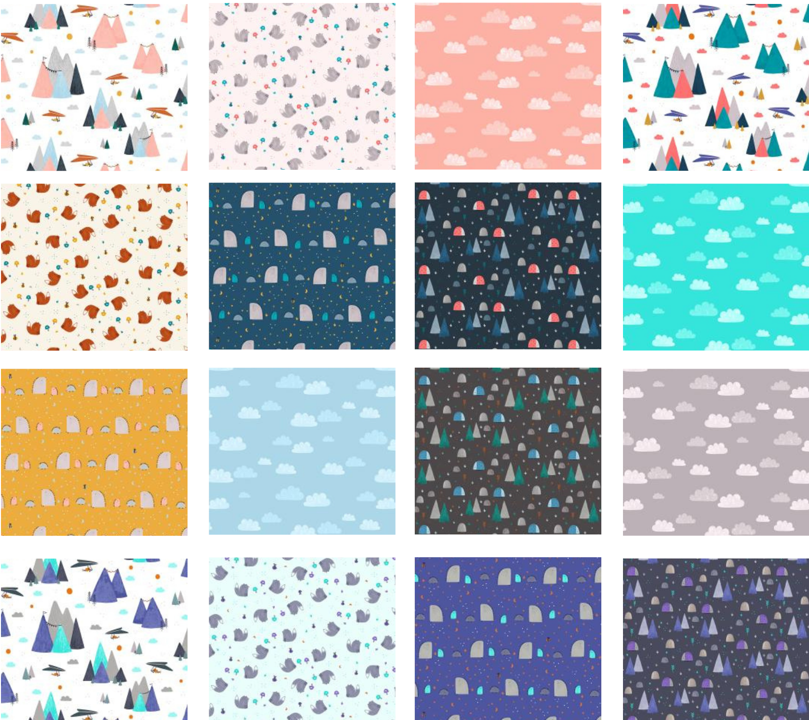 Summer Skies Fat Quarter Bundle, 16pcs