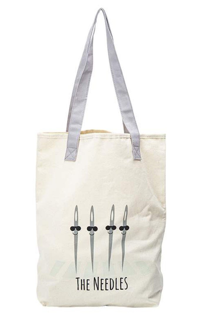 The Needles Canvas Tote Bag 14.5in x 16in