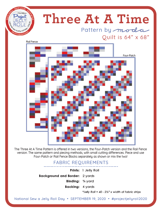 Three at a Time Pattern Free Download