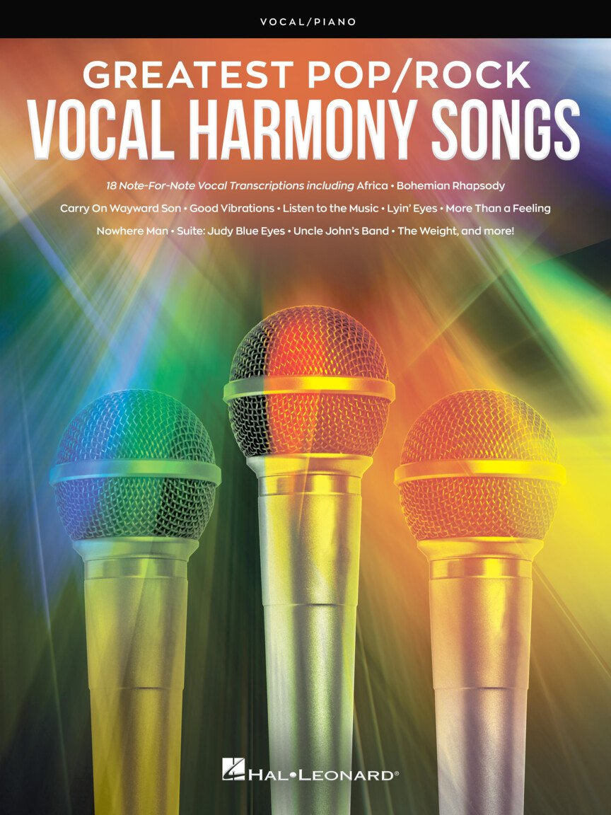 Greatest Pop/Rock Vocal Harmony Songs | 18 Note-For-Note Vocal Transcriptions With Piano Accompaniment