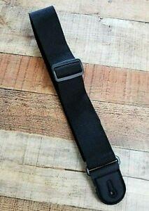 Black Nylon Guitar Strap