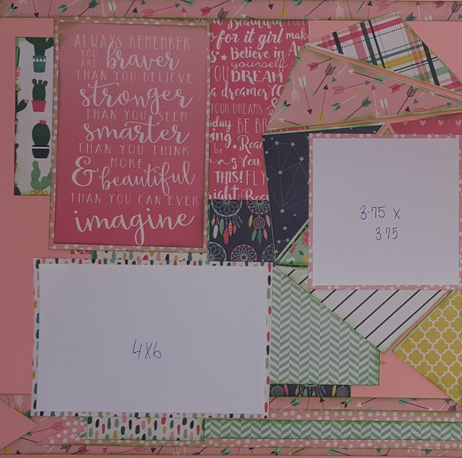 Just be you 2 page layout