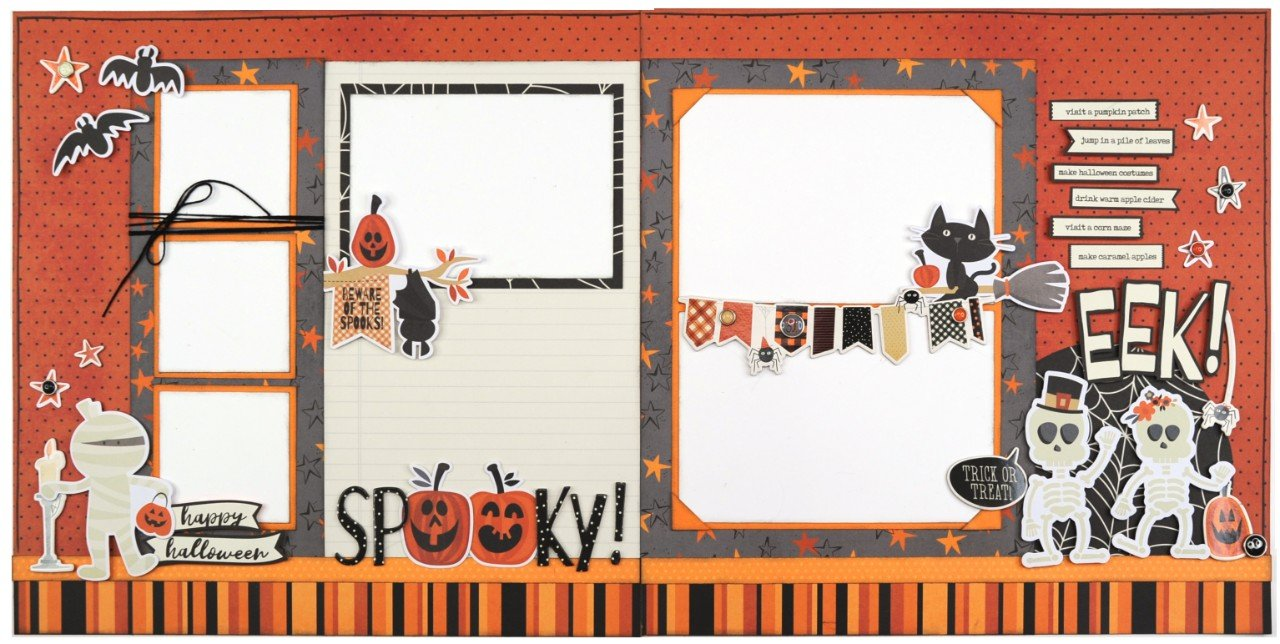Simple Stories Boo Crew 4 page layout