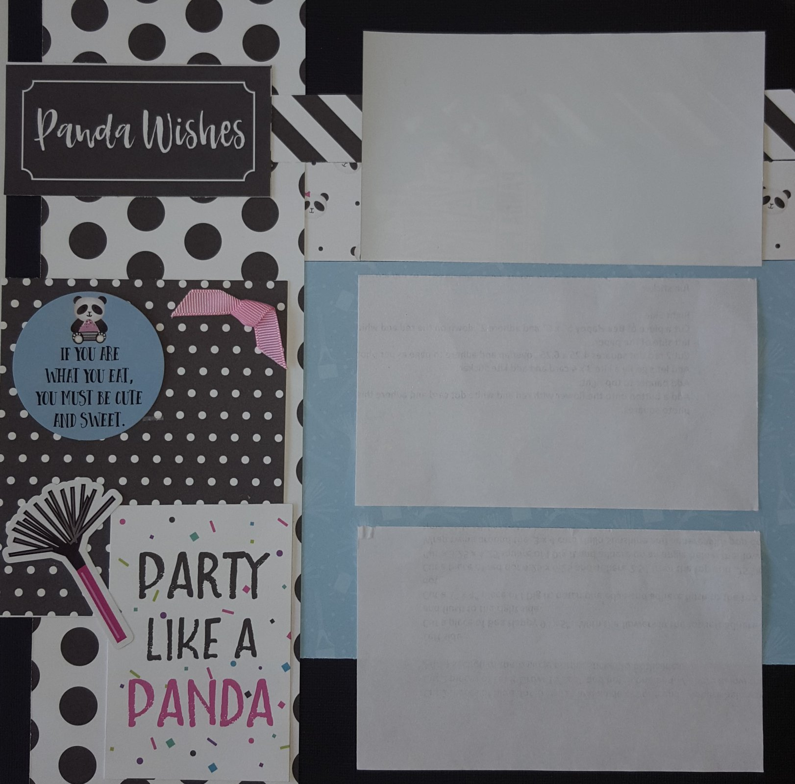 Cake Panda Party 2 x 2 page layout