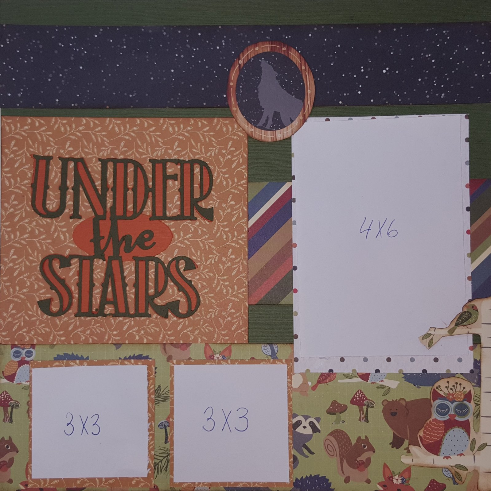 Under the stars 2 page layout