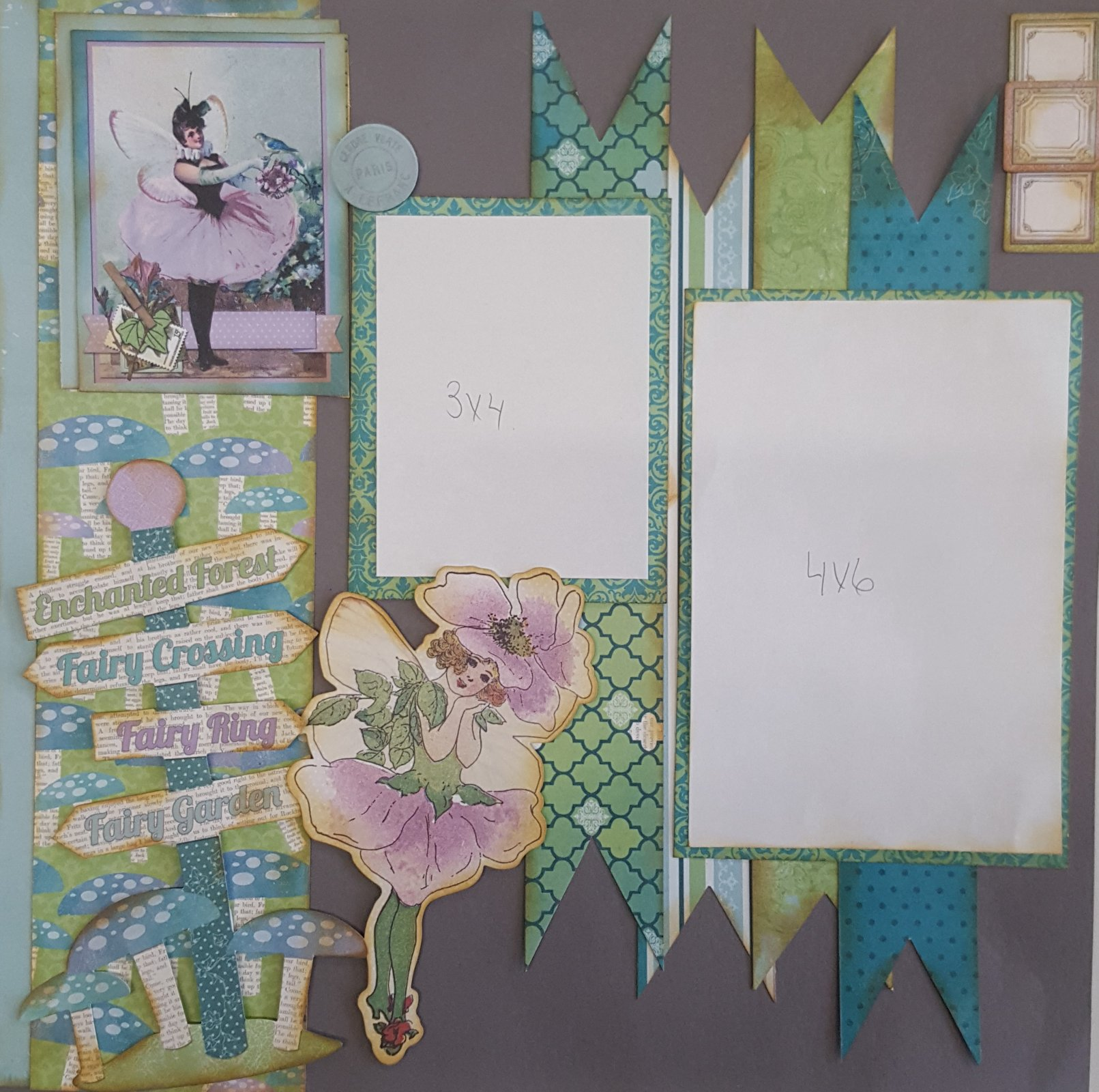 Enchanted Forest 4 page layout