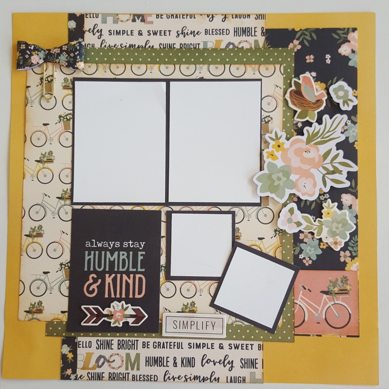 Simple Stories Spring Farmhouse 4 page Layout kit