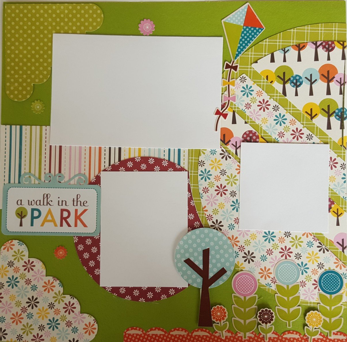 Walk in the park 2x2 page layout kit