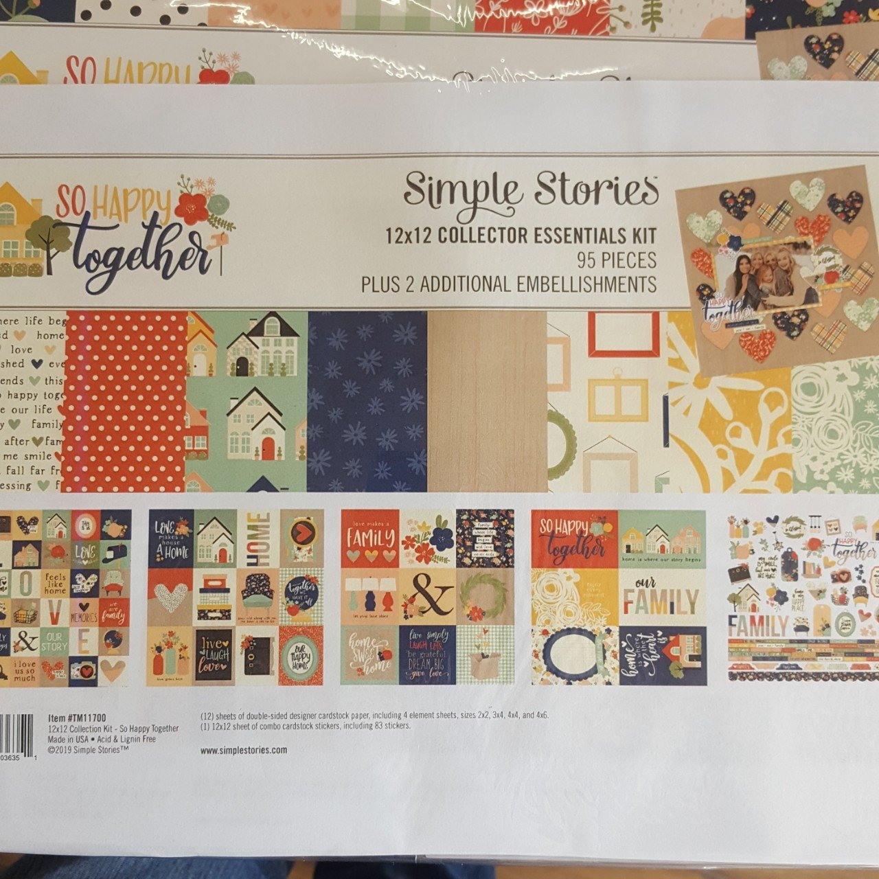 Simple Stories 12x12 collector Essentials kit So Happy Together