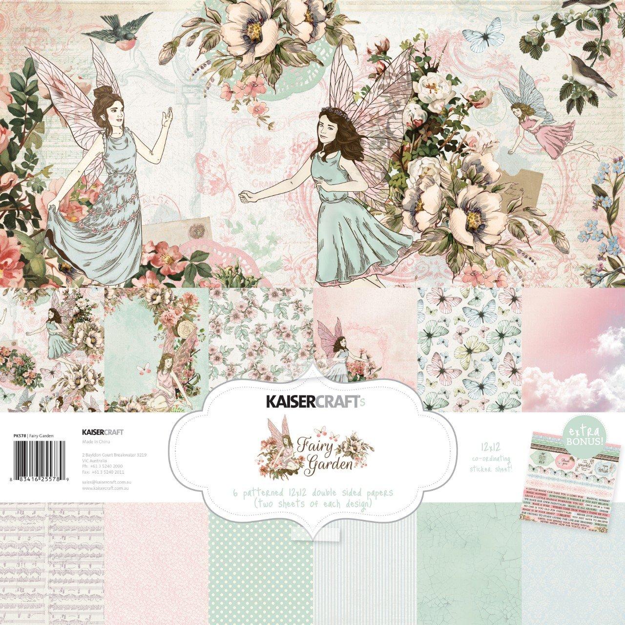 Kaisercraft Paper Pack 12X12 12/Pkg Fairy Garden
