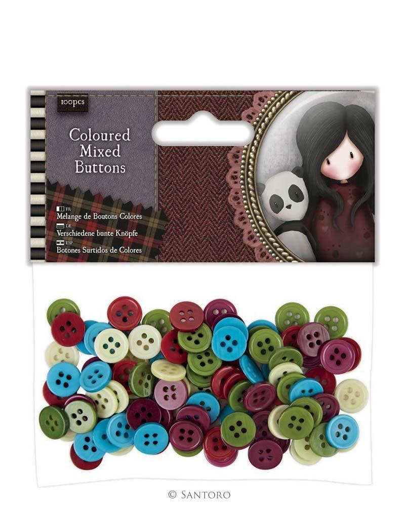 Coloured Mixed Buttons (100pcs) Santoro London