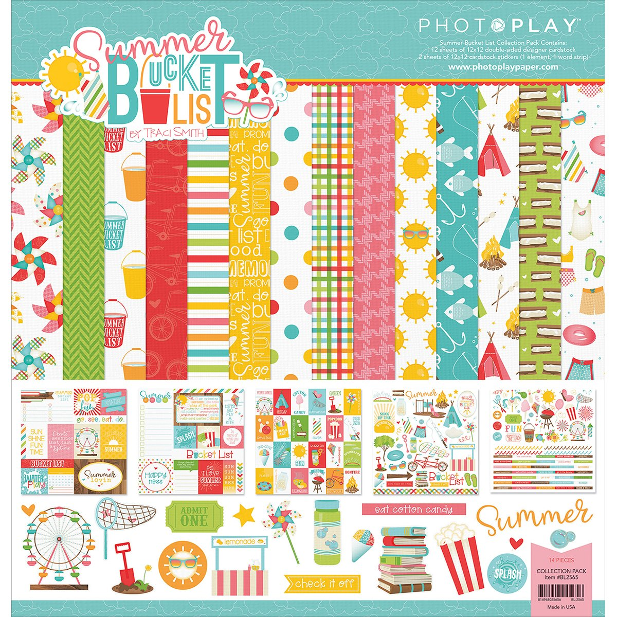 PhotoPlay Collection Pack 12X12 Summer Bucket List