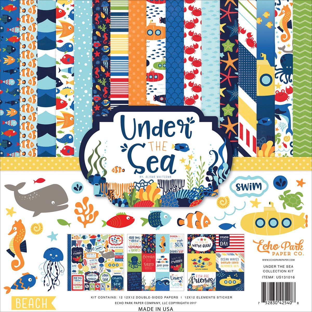 Echo Park Collection Kit 12X12 Under The Sea