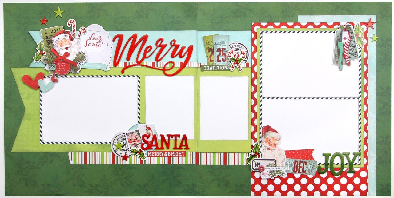 Simple Vintage North Pole 2 2 page layout
