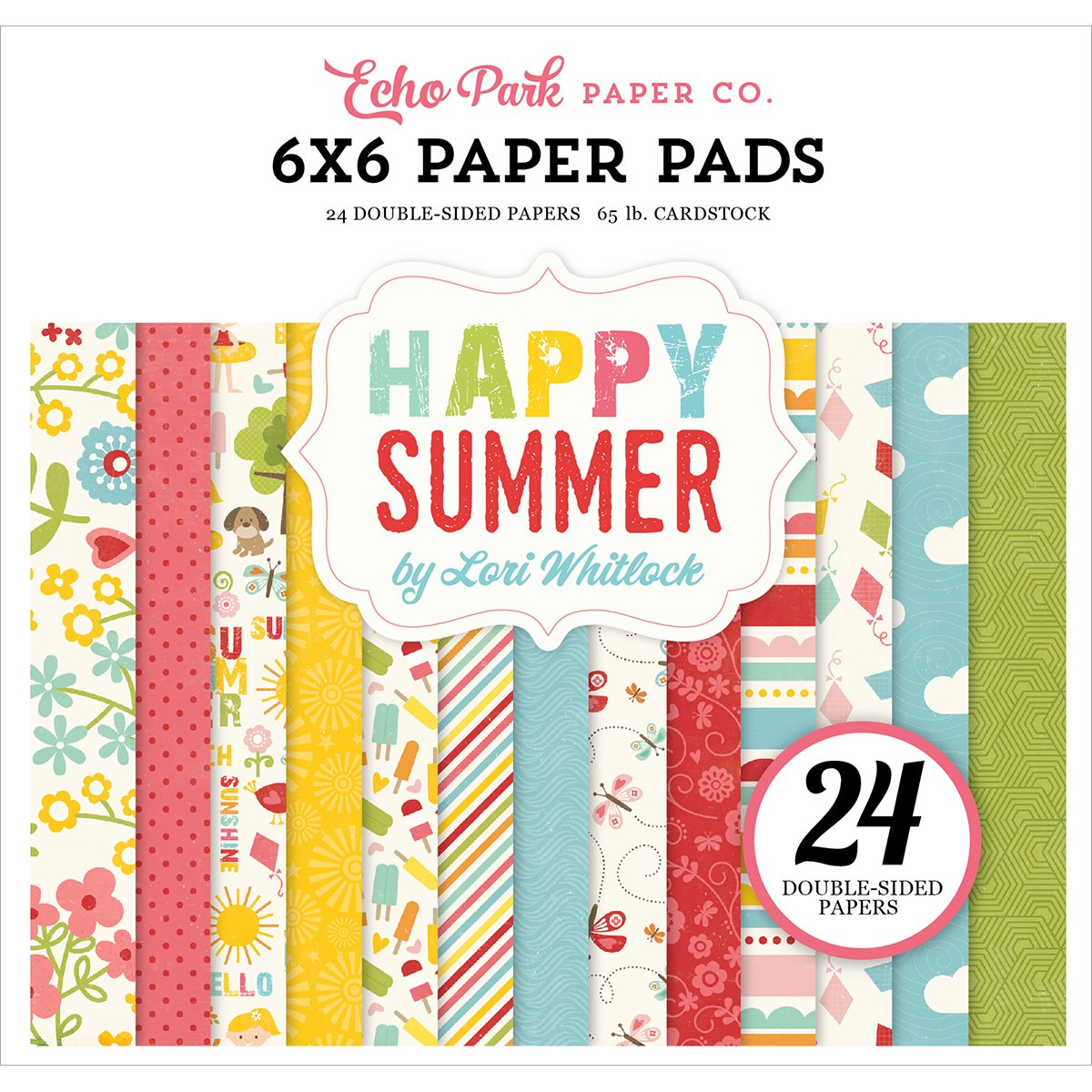 Echo Park Double-Sided Paper Pad 6X6 24/Pkg Happy Summer