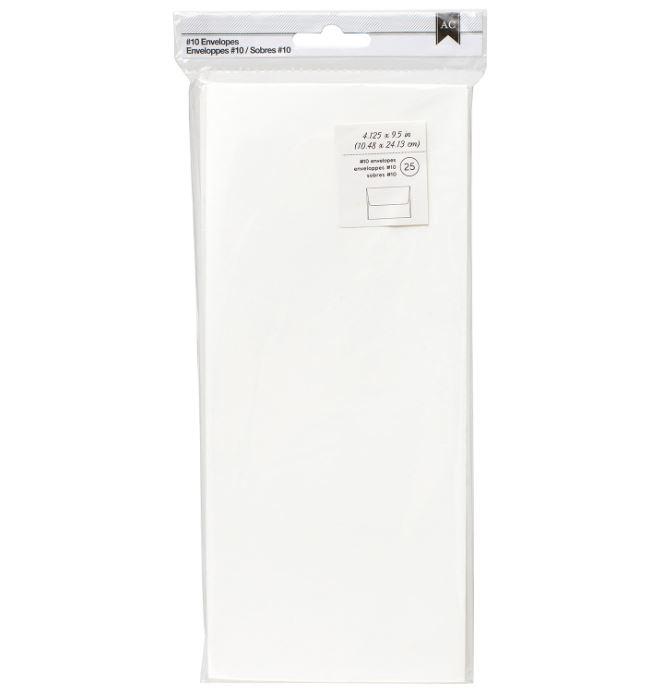American Crafts #10 Envelopes (4.125X9.5) 25/Pkg-Ivory