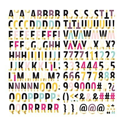 American Crafts We We R Memory Keepers Urban Chic Alphabet Thickers 202 Piece