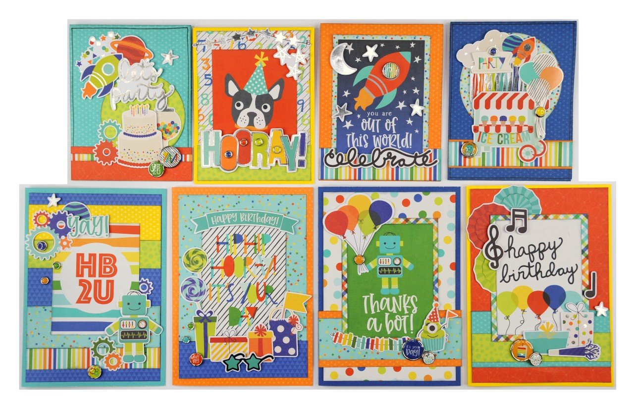 Simple Stories Birthday Blast card kit