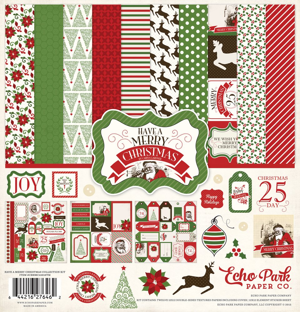 Echo Park Have A Very Merry Christmas Collection Kit