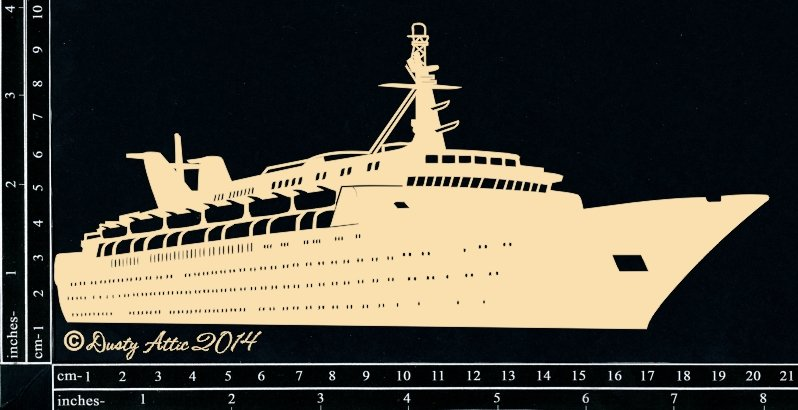 Dusty Attic Laser Cut Chipboard Cruise Ship