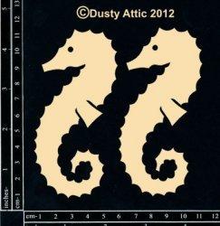 Dusty Attic Laser Cut Chipboard Seahorse #1