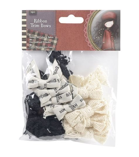 Santoro Gorjuss 12pcs Tweed Ribbon Bows