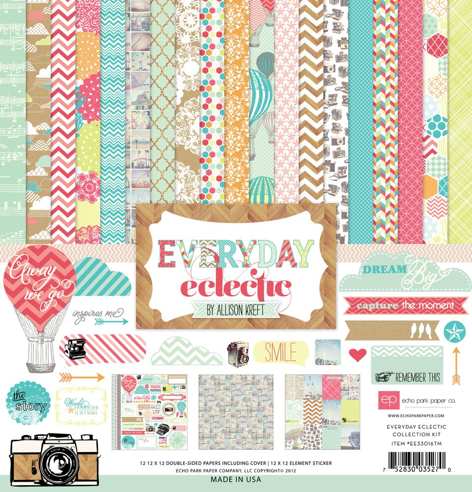 Echo Park 12x12 collection Everyday Eclectic