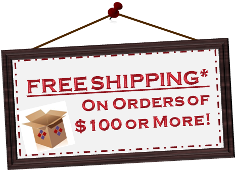 Free shipping for orders over $100 in Ontario