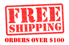 once you order reaches $100 shipping automatically be free