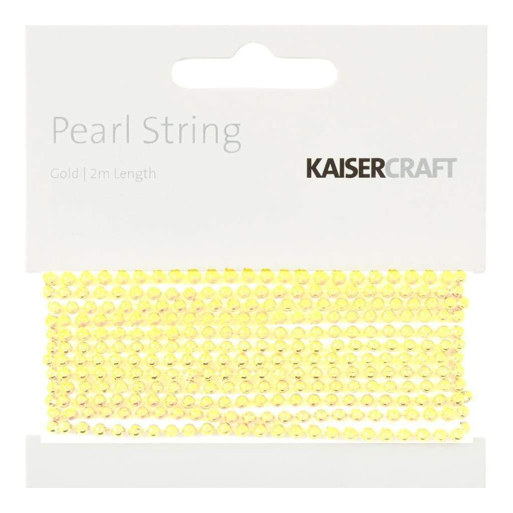 Gold pearl string