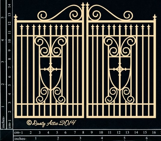 Dusty Attic Laser Cut Chipboard Ornate Gate Small
