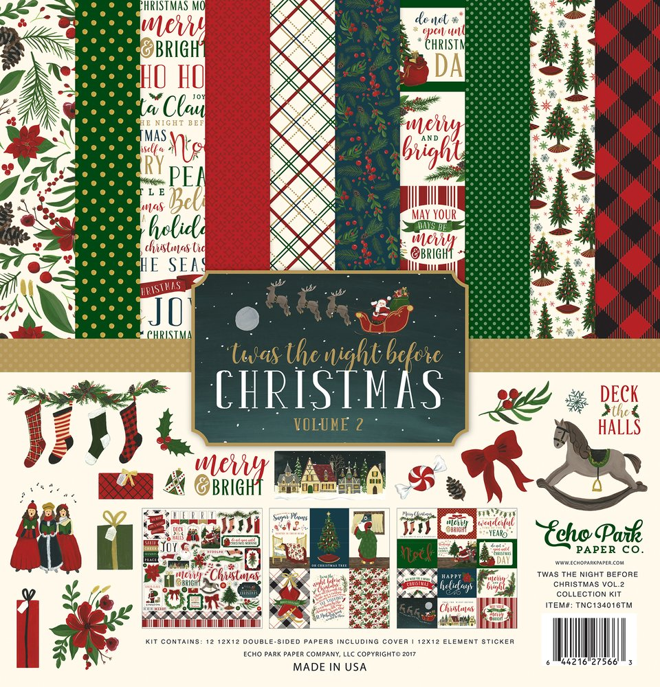 Carta Bella Twas the Night Before Christmas Volume 2 Collection Kit