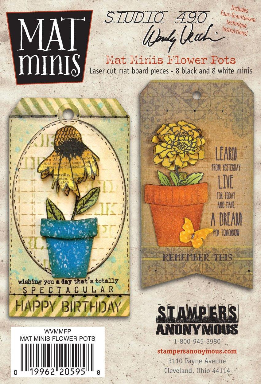 Studio 490 Wendy Vecchi Mat Minis: Flower Pots