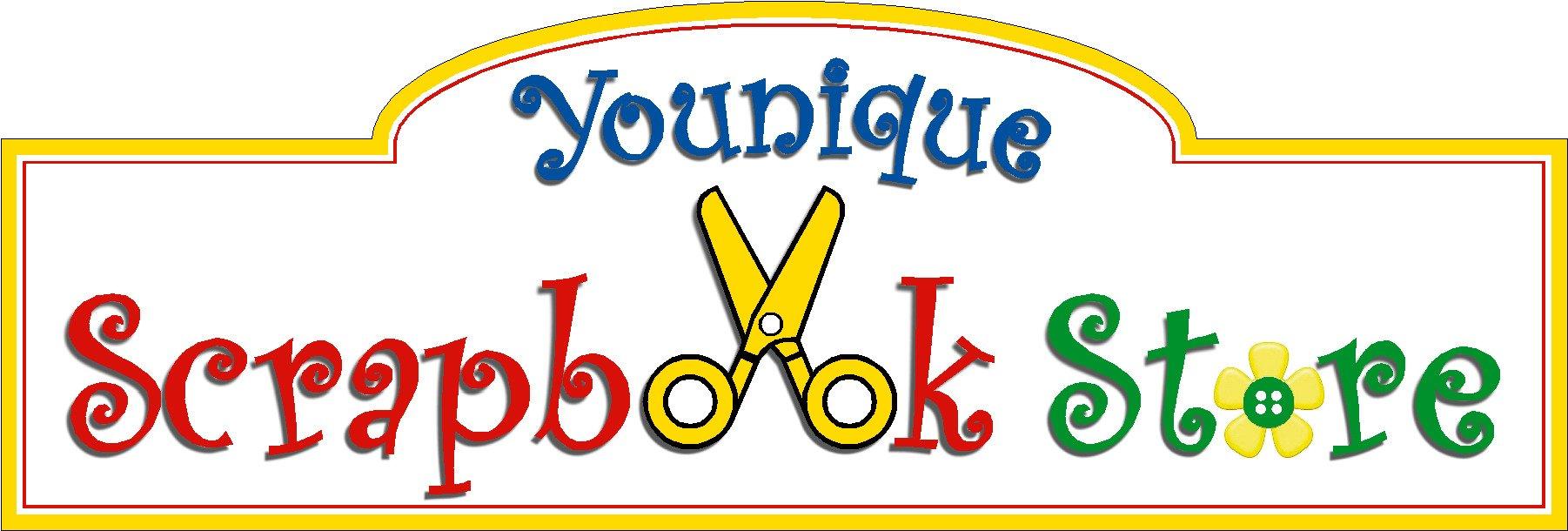 younique scrapbook store logo