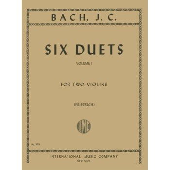 J.C Bach: Six Duets Vol. 1 Ed. Friedrich